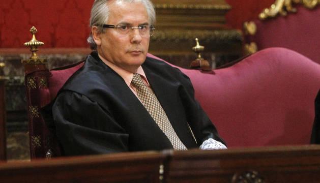 El juez Baltasar Garzón durante el juicio que se sigue contra él en el Tribunal Supremo