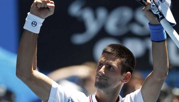 Djokovic, tras conseguir la victoria