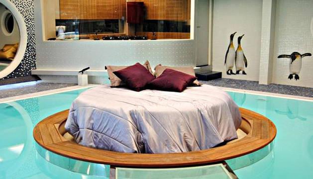 Imagen de la zona de la piscina de la nueva casa de Gran Hermano 12+1