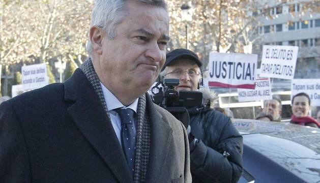 El abogado Ignacio Peláez, que en 2009 presentó una querella contra el juez Baltasar Garzón, a su llegada al Tribunal Supremo