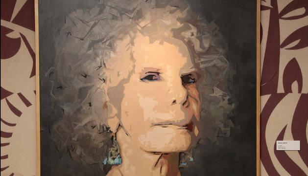 Una de las obras expuestas con la duquesa de Alba como motivo pop