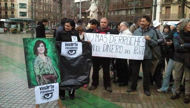 La protesta del colectivo Vesarte