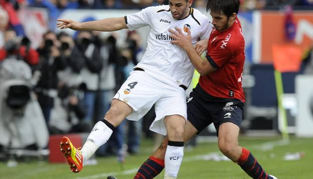 Imágenes del partido Osasuna-Valencia, correspondiente a la primera jornada de Liga, disputado en el Reyno de Navarra.