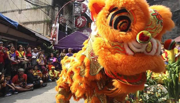 Diferentes actos celebrados con motivo de la celebración del Año Nuevo Lunar en China, conocido también como Festival de la Primavera.