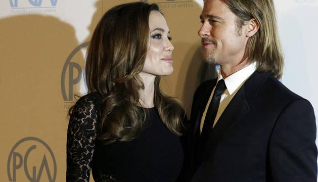 Angelina Jolie y Brad Pitt en los Premios del Sindicato de Productores