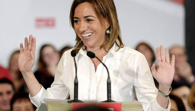 Carme Chacón durante su intervención en el Hotel Abades en Granada
