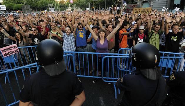 En Madrid, en un movimiento del 15-M