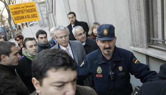 Garzón, a su llegada