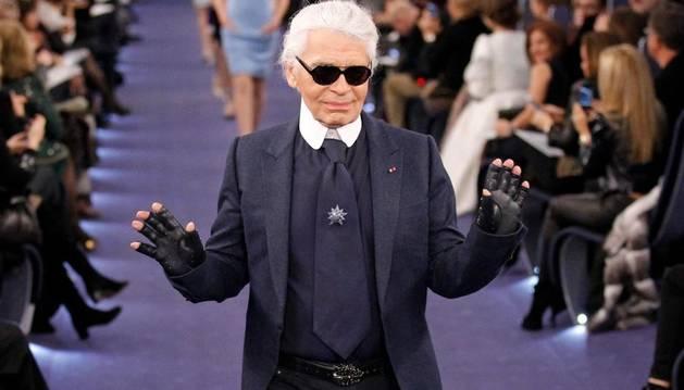 El modisto alemán Karl Lagerfeld