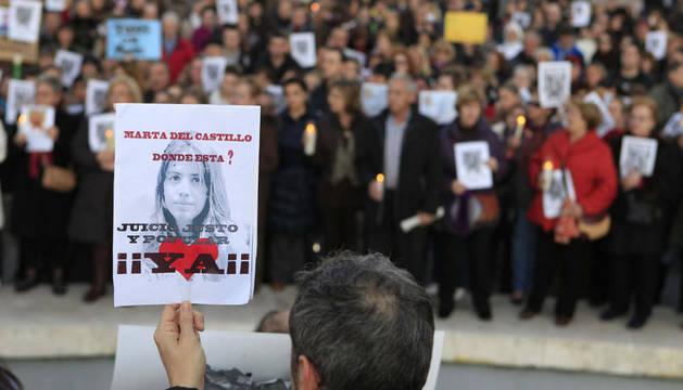 Manifestación por Marta del Castillo de este martes en la madrileña Plaza de Colón