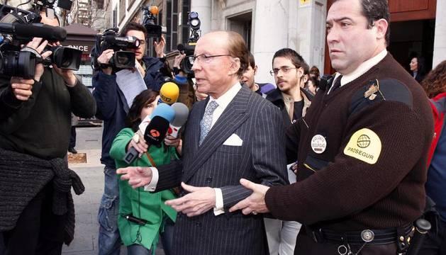 Ruiz-Mateos, a su llegada a los juzgados de Palma