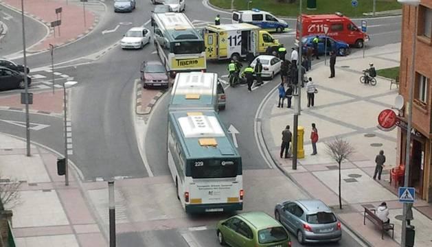 En la rotonda Cuatrovientos, en la imagen, y las avenidas Navarra, Guipúzcoa/Oblatas y la plaza Príncipe de Viana es donde más accidentes de tráfico se producen en Pamplona.