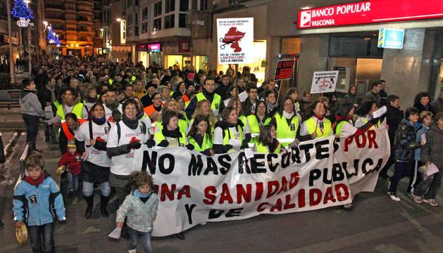Una protesta en Tudela, donde han obtenido 25.000 firmas en contra
