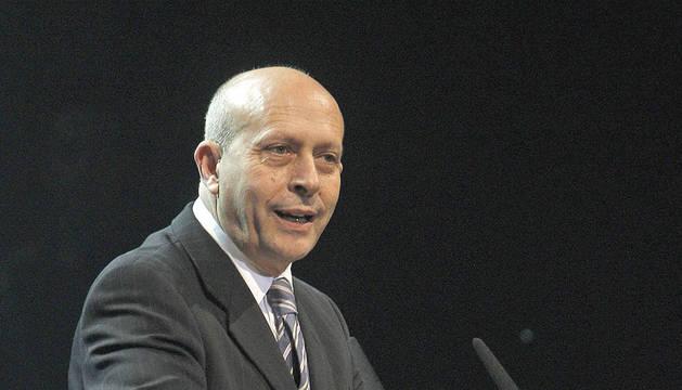 El Ministro de Educación, Cultura y Deporte, José Ignacio Wert, durante su intervención en la entrega de los Premios José María Forqué 2012, que se celebraban este lunes en Madrid