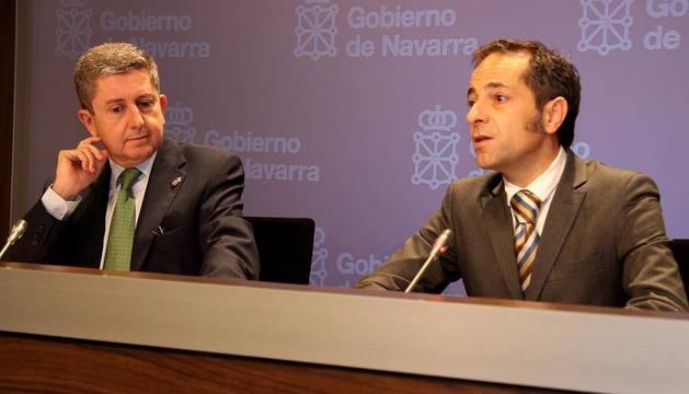 Miranda y Sánchez de Muniáin, durante su intervención tras la sesión de gobierno