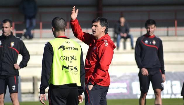 Entrenamiento de Osasuna en Tajonar de cara a su encuentro contra el Atlético de Madrid