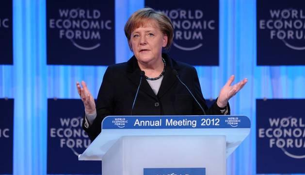 Merkel, en Davos