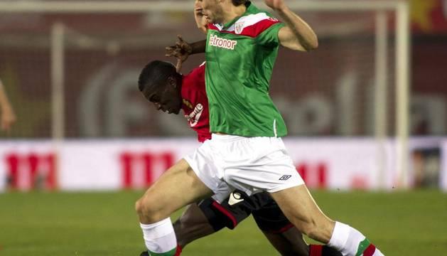 Llorente, durante el partido ante el Mallorca