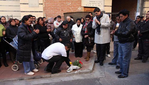 Manifestación por la muerte de Hugo Montalvo, tras recibir una brutal paliza en Tudela.