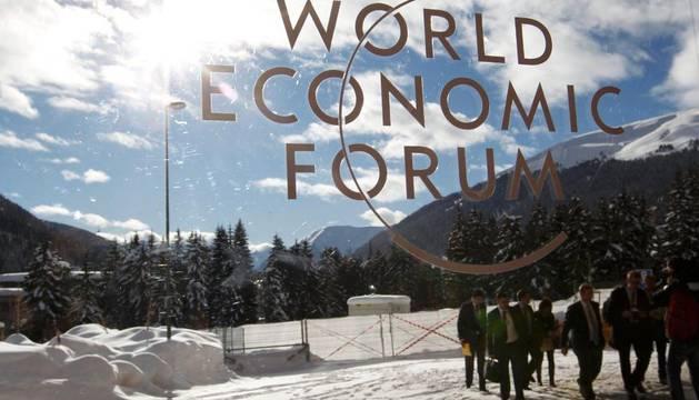 En el foro de Davos