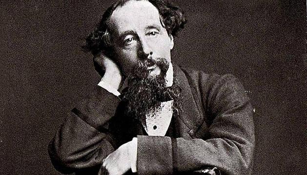 Retrato del escritor Charles Dickens