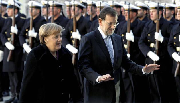 Merkel y Rajoy, en Alemania