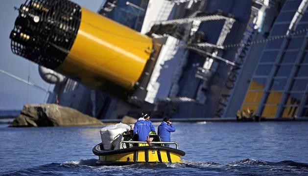Imágenes del Costa Concordia de este viernes 27 de enero