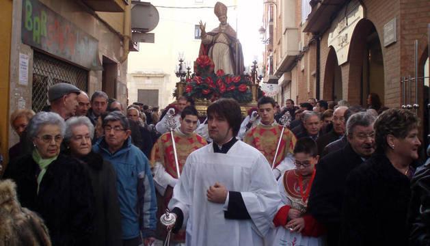 Procesión de San Blas de Peralta en 2011