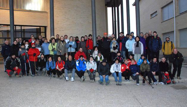 Participantes en la XIV Marcha a Yerga