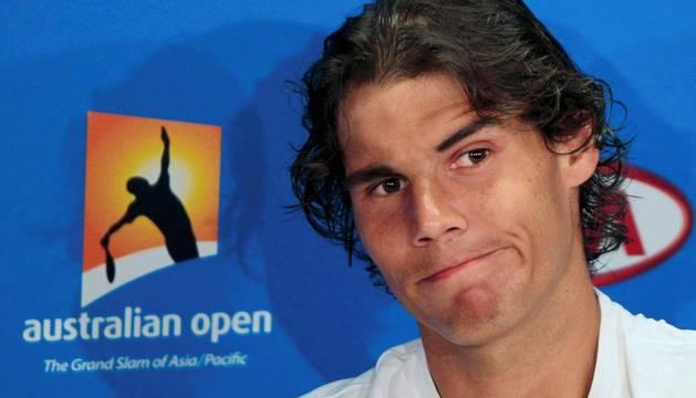 El tenista español durante una rueda de prensa en Melbourne