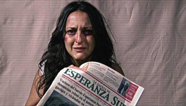 Macu fingiendo su secuestro en el capítulo de la serie 'Aída'