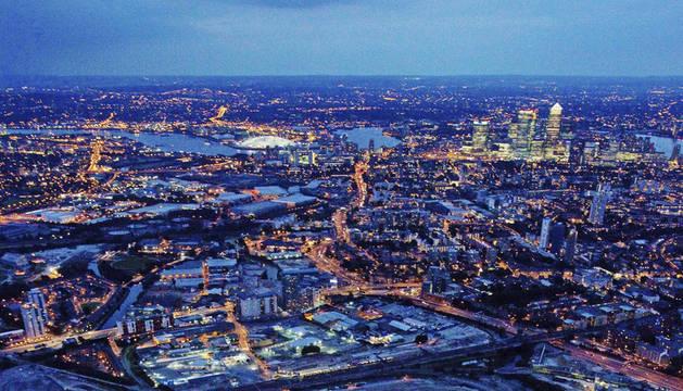 Vista aérea del Estadio Olímpico de Londres 2012