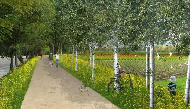 Recreación virtual del parque de Aranzadi