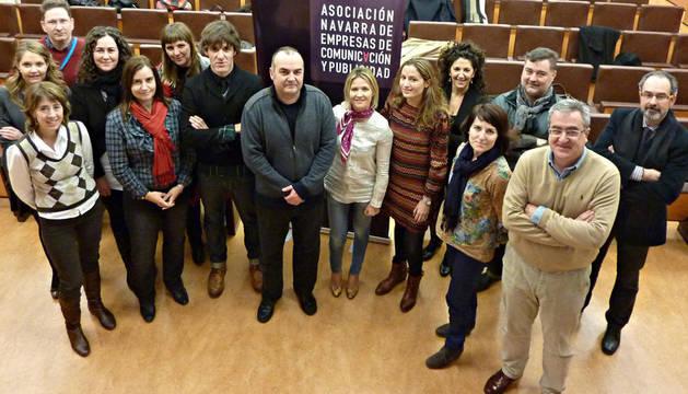 Integrantes de la Asociación de agencias de Comunicación y Publicidad de Navarra.