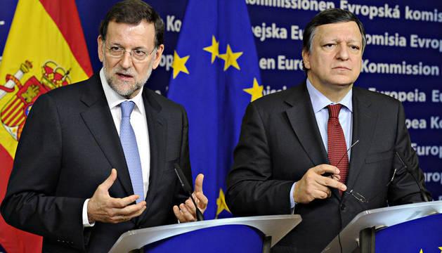 Mariano Rajoy en su reunión con el presidente de la Comisión Europea, José Manuel Durao Barroso.