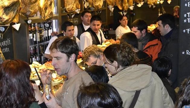 Imágenes de ambiente del Juevintxo, 2 de febrero 2012