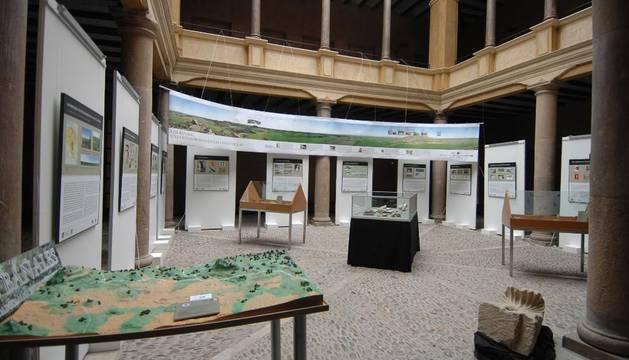 Una imagen de la exposición situada en la UNED de Tudela