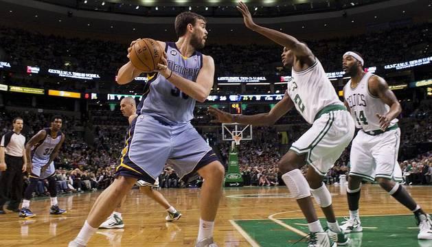 Marc Gasol, durante el encuentro contra los Celtics