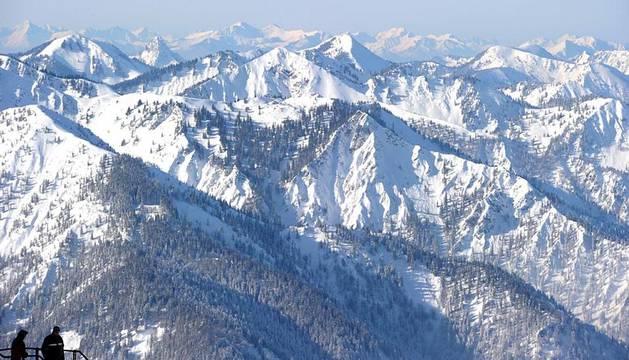 Imágenes de la cordillera de los Alpes de este miércoles 8 de febrero