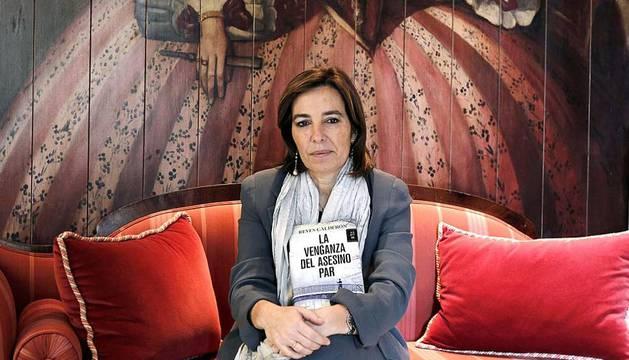 La escritora vallisoletana Reyes Calderón en la presentación de su séptima novela,