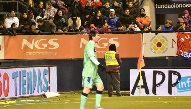 Imágenes de la victoria de Osasuna ante el Barcelona en el Reyno de Navarra