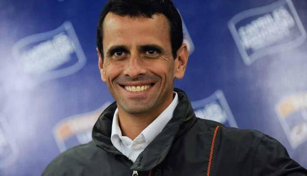 El candidato de la oposición venezolana para los comicios presidenciales del próximo 7 de octubre, Henrique Capriles