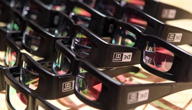 Varias gafas para películas en 3D