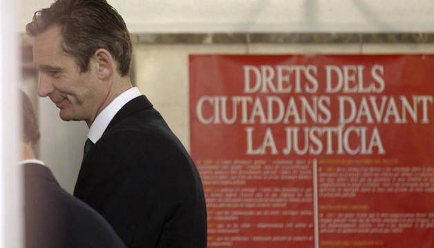 Iñaki Urdangarín, a su entrada este domingo a los juzgados de Palma