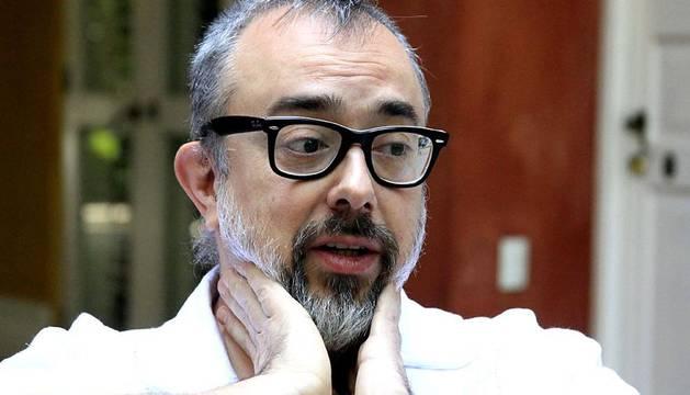 El director de cine y exdirector de la Academia Española de Cine, Álex de la Iglesia, durante la entrevista