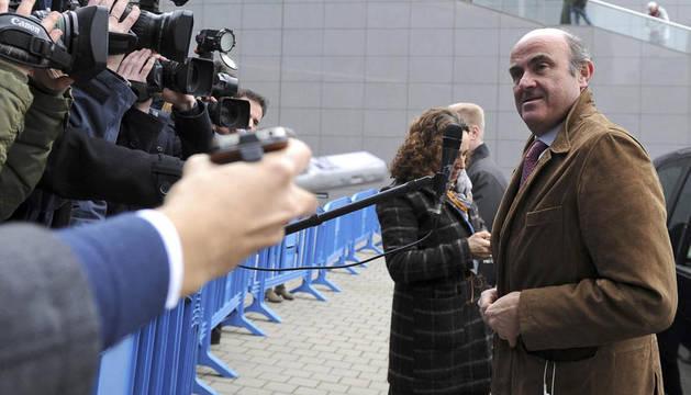 De Guindos, a su llegada a la reunión del Eurogrupo