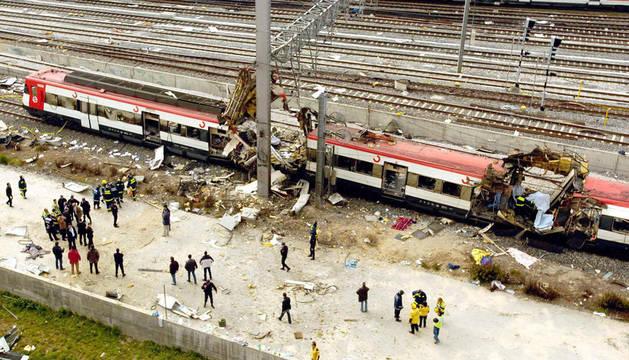 Uno de los trenes afectados, en Atocha