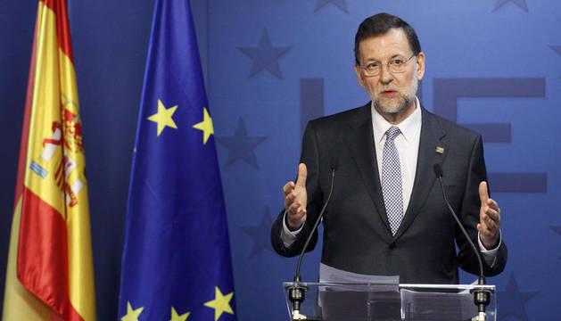 Rajoy, en la rueda de prensa en Bruselas