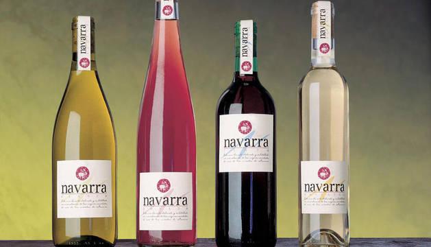 Varios vinos de Denominación de Origen Navarra