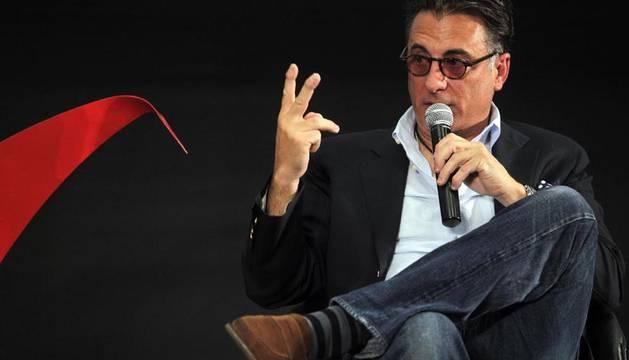 El actor Andy García en una conferencia ofrecida en el marco de la edición 27 del Festival Internacional de Cine de Guadalajara (México)